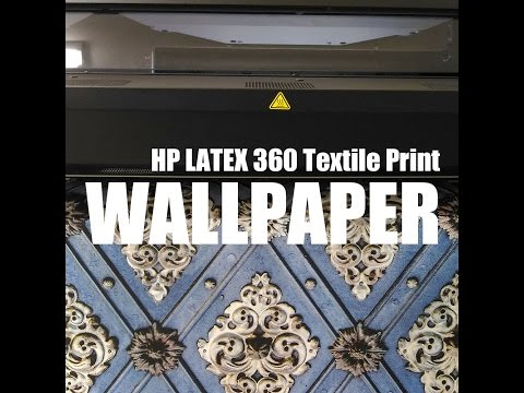 HP LATEX 360 Textile Print / On&Off Wallpaper / BORDO