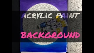 Acrylic paint  background in Coloring book