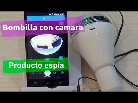 Bombilla con con camara IP oculta bombilla e iluminación led