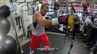 SERGEY KOVALEV POV BOXING WORKOUT - GO PRO HERO 6 - KOVALEV VS SHABRANSKYY VIDEO