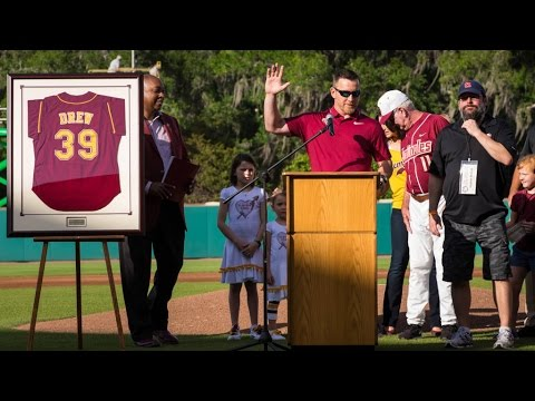 Drew Humbled by Jersey Retirement