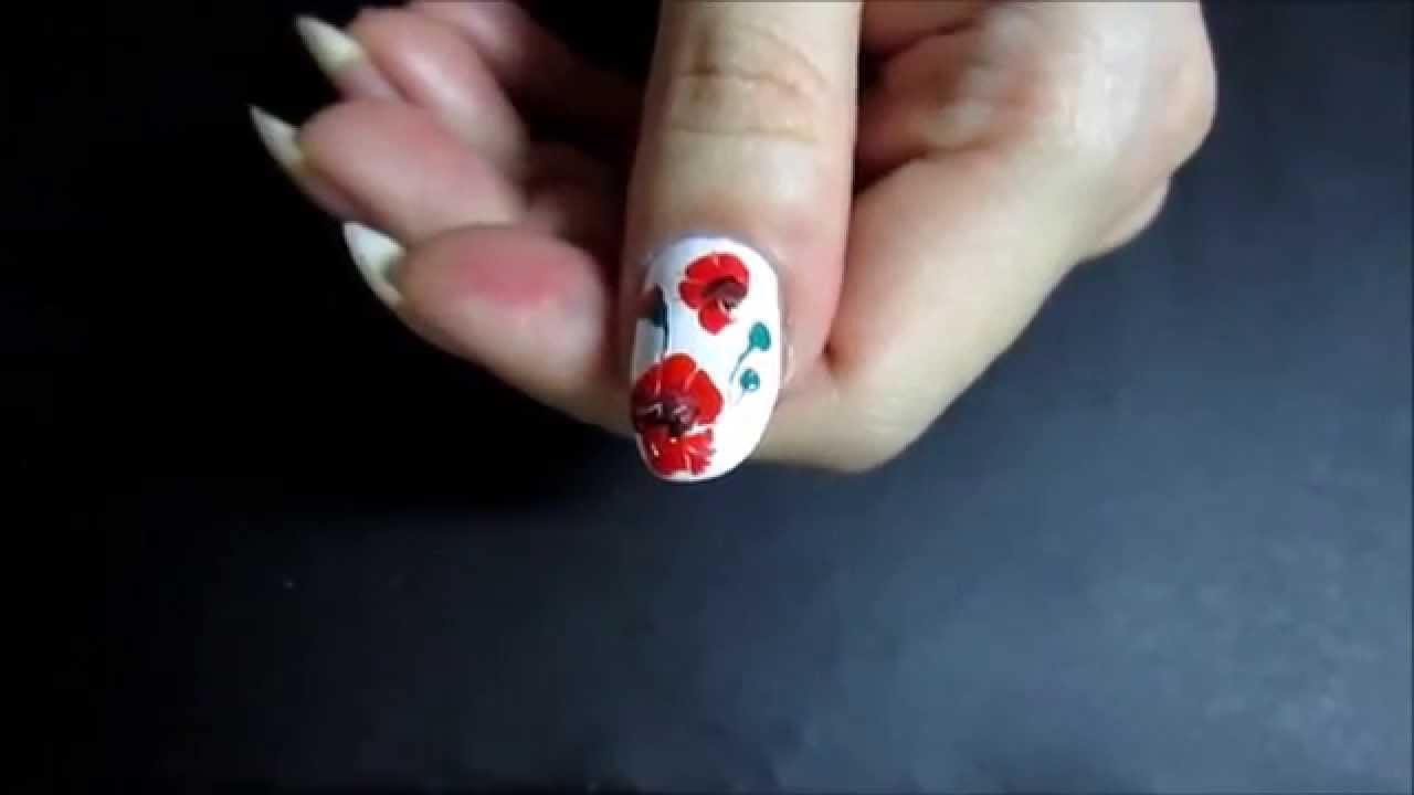 Нарисовать простой рисунок на ногтях фото