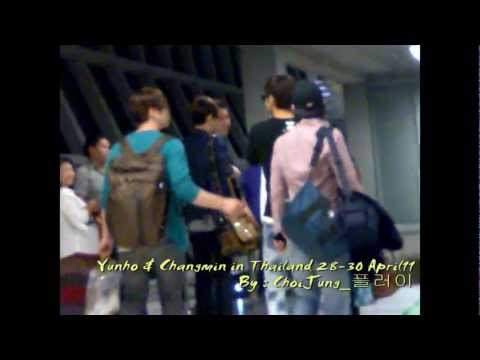 TVXQ Yunho & Changmin In Thailand [Massage & Hotel & Airport]