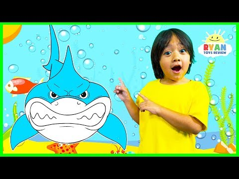 Learn about Sharks for Kids with Ryan and learn sea animals names