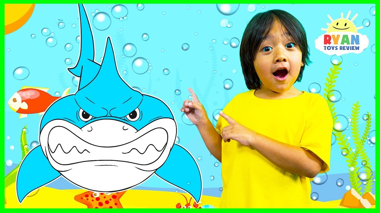 Download Learn about Sharks for Kids with Ryan and learn sea animals names