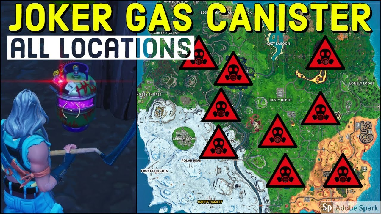 Defuse Joker Gas Canisters Found In Different Named Locations Gotham City Batman Fortnite