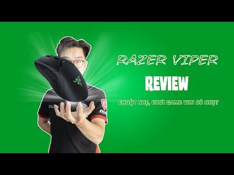 RAZER VIPER REVIEW 4K | MỞ HỘP VÀ ĐÁNH GIÁ NHANH CHUỘT SIÊU NHẸ RAZER VIPER