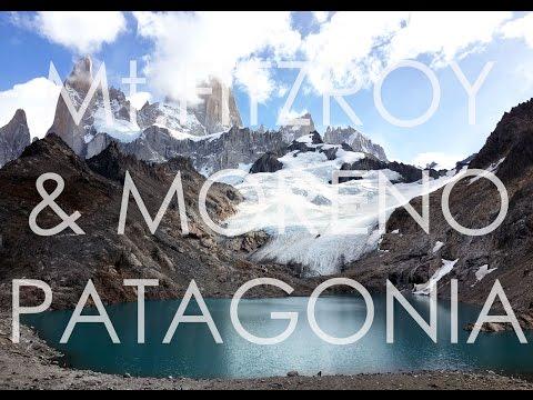 Mountain Fitzroy, Moreno glacier, Patagonia, Argentina., travel film