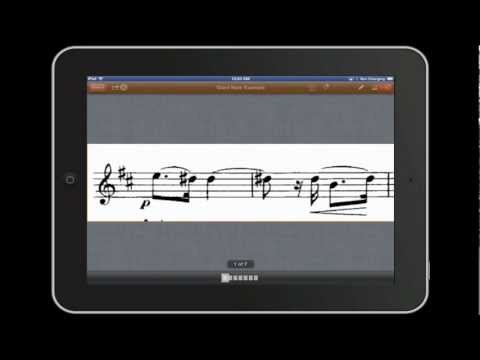 How to create Giant Note iPad Sheet Music using a Mac
