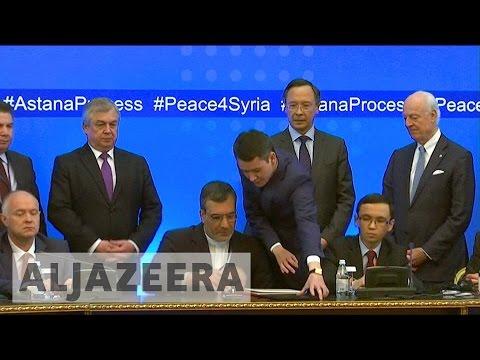 Astana talks: Guarantor states agree on Syria 'de-escalation' zones