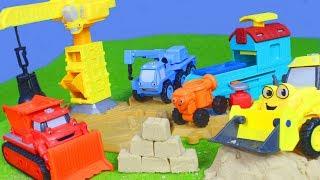 Bob der Baumeister Spielzeugautos, Bagger, Lastwagen & Kran auf der Baustelle für Kinder