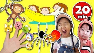 Nursery Rhymes & Kids Songs - Finger Family, Skip To My Lou, Five little monkeys and more ..