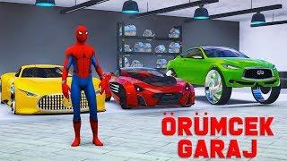 Örümcek Adamın Vizyon Arabalar Garajını Geziyoruz