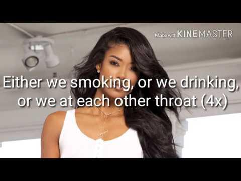 Mila J- Smoke Drink Breakup( Lyrics Video)