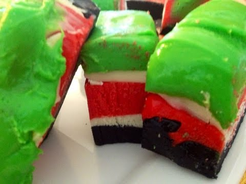 Chocolate fudge with Kenyan colors