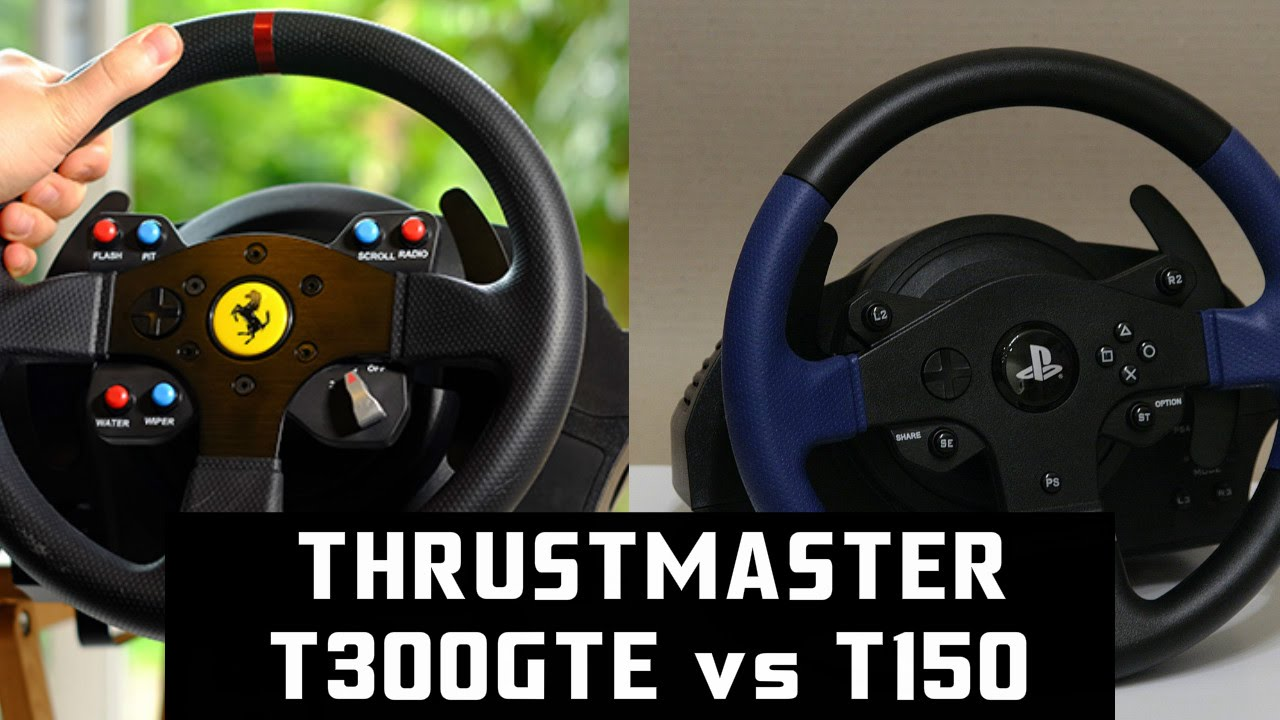 EXPERIMENT : Thrustmaster T300GTE vs T150