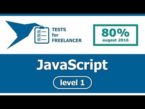 Freelancer - JavaScript - level 1 - test (80%)