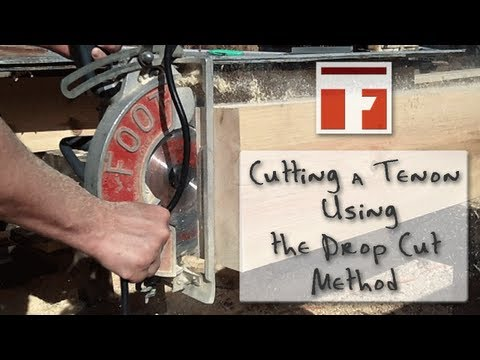 Making a Timber Frame Tenon - The Drop Cut Method