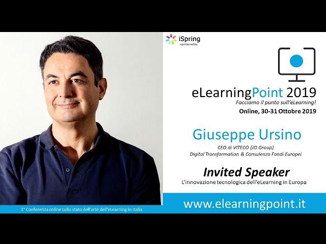 eLearningPoint 2019 - Intervento del dott.Giuseppe Ursino - CEO di Viteco (JO Group)