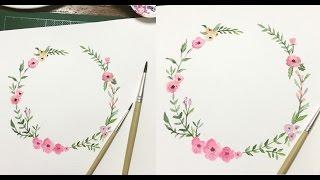 ระบายสีดอกไม้/ speed draw sweet beautiful bouquet.