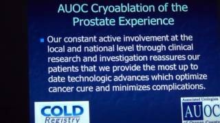 473  Stephen Williams, MD  Cryoablation for Prostate Cancer, March 28, 2013