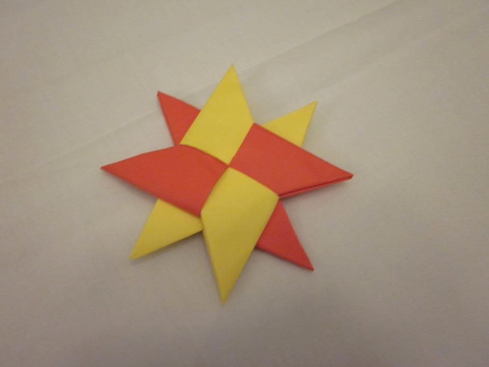 Origami Ninja Star Tutorial - Shuriken - Paper Kawaii - YouTube | 720x960