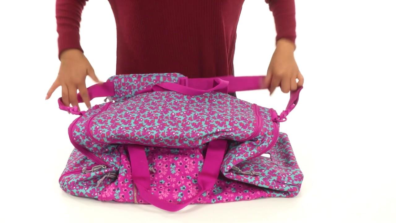8e841d7222 Vera Bradley Luggage Lighten Up Ultimate Gym Bag SKU 8955154 - YouTube