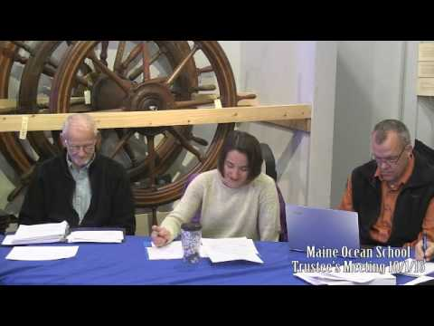 Maine Ocean School Trustees Meeting 10/1/16