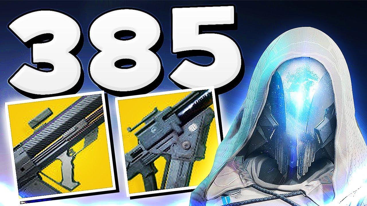 Destiny 2 - 385 NEW POWER LEVEL & NEW EXOTICS !!