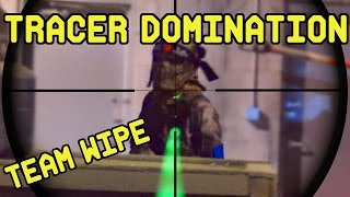 Tracer Domination: Team Wipe | Indoor Airsoft CQB Gameplay with VFC Avalon VR16 Calibur CQB