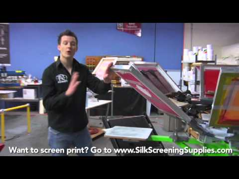 How to Screen Print - Production Printing - Detailed instruction - Screen Printing 101 DVD pt 32