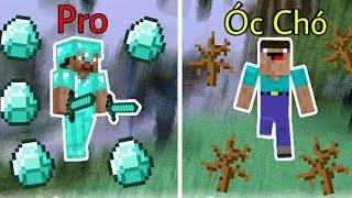 Sự Khác Biệt Giữa Pro Và Óc Chó | Minecraft PE