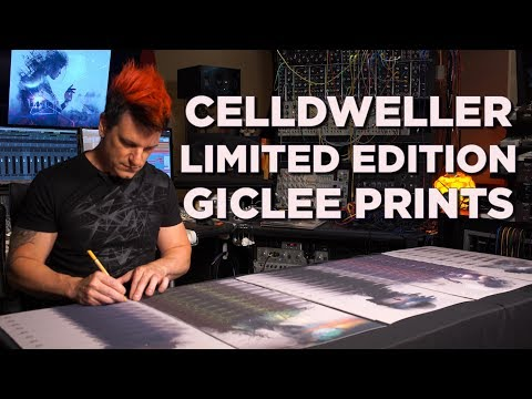 """Celldweller - Limited Edition Autographed/Numbered """"Offworld"""" Giclee Art Prints"""