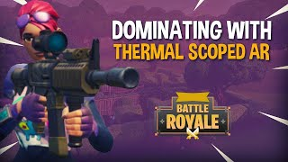 Dominating with Thermal Scope in Disco Domination | Fortnite Battle Royale