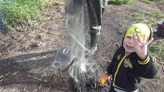 Не самая удачная рыбалка и подробный заброс кастинговой сети