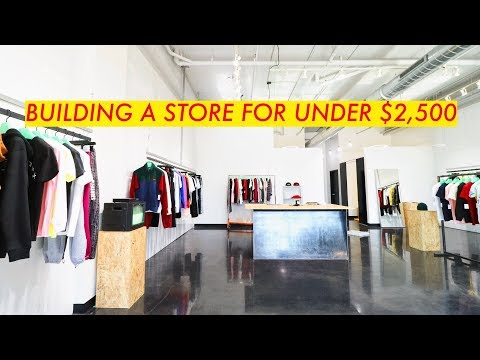 How I Built a Clothing Store in a WEEK // For Under $2,500 /