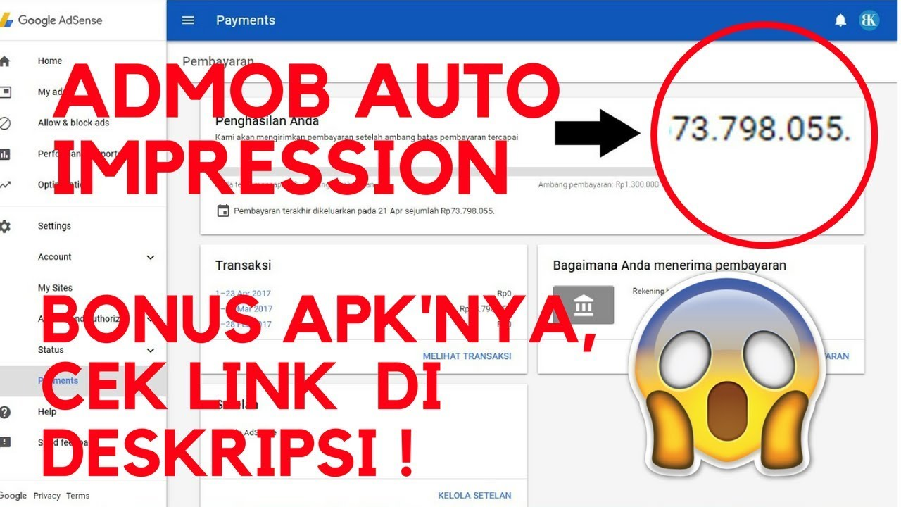 Tutorial Admob Auto Impression + APK ! | 2017-2018