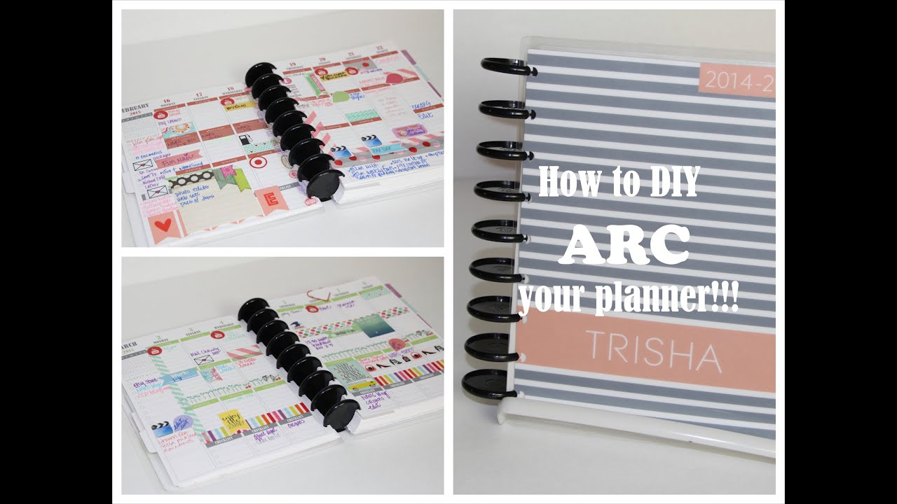 how to arc your planner