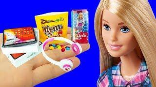 10 DIY Barbie Hacks Miniature Barbie Doll, Ipad, Headphones, More Barbie Crafts