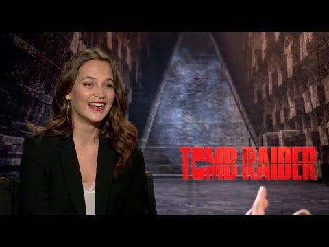 TOMB RAIDER s  Alicia Vikander talks about Angelina Jolie, Walton Goggins