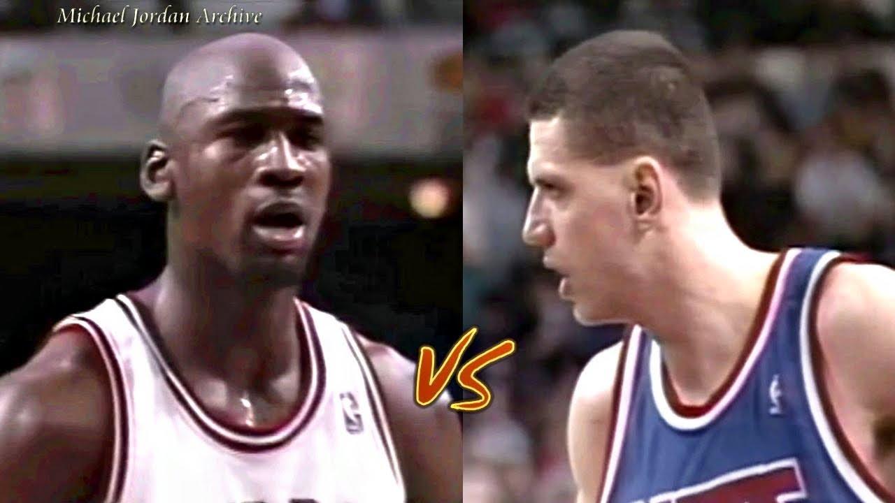 8f8f288e60c 12.12.1992 Michael Jordan vs Drazen Petrovic Big Duel! MJ One Man Game   63  Pts Total!