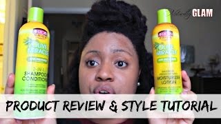 African Pride Olive Miracle Review | Natural Hair Blowout Style Tutorial