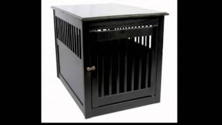 Dynamic Accents 42167 Large Anitque Black End Table Pet Crate