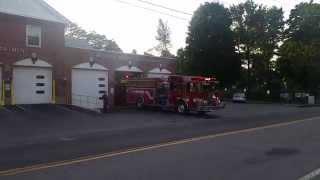 Brewster Fire Department Engine 5 responds to an open burn
