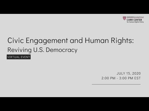 Civic Engagement and Human Rights: Reviving U.S. Democracy on YouTube