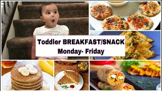 5 Indian Breakfast recipes for Toddlers|Heathy vegetarian food for toddlers|Toddler breakfast recipe