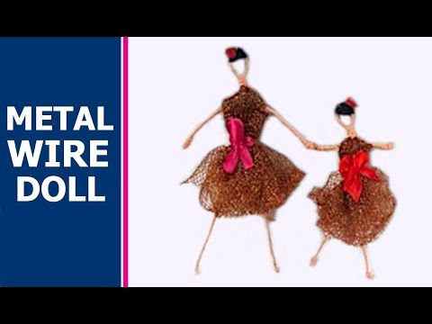 Metal wire doll tutorial - YouTube