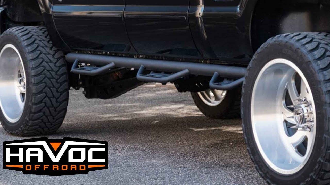 hight resolution of havoc offroad hs3 black hoop steps install for a ford f 250 f 350 super duty 1999 2016 crew cab