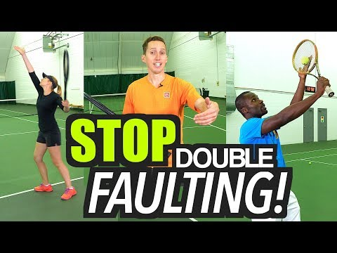 How to STOP Double Faulting! - tennis serve lesson