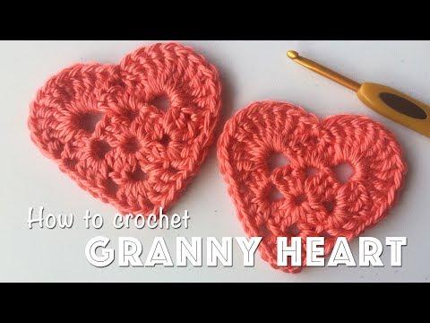 How To Crochet Granny Heart